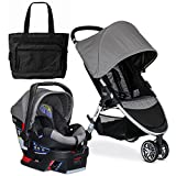 Britax 2017 B-Agile 3 / B-Safe 35 Travel System with Diaper Bag - Steel