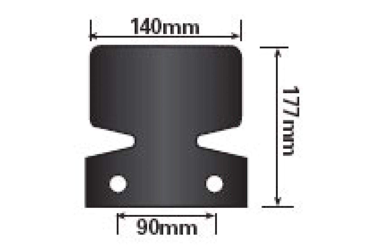 NEW BLACK METAL FLANGE STYLE TOW BAR BUMPER PROTECTOR TOWBALL MP464B MAYPOLE