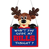 2015 NFL Football Team Logo Reindeer With Sign Holiday Tree Ornament - Pick Team (Buffalo Bills)