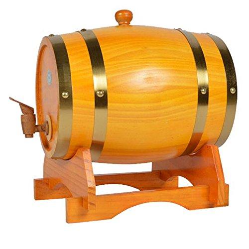 Oak Barrel, Dream_light Vintage Wood Oak Timber Barrel For Storage or Aging Wine Whiskey Beer Rum Bourbon Tequila, Vintage Style Tabletop Wine Barware Wine Barrel Home Decor (Cream Color, (Tequila Cream)