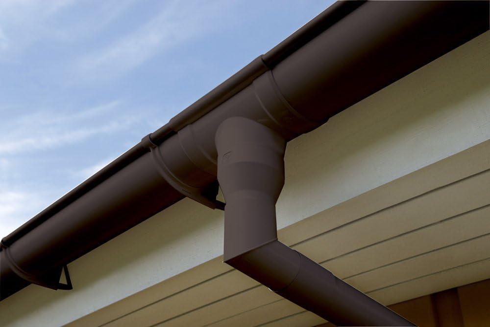 Regenrinne Kunststoff Dachrinne 31 cm INEFA Regenfallrohrklappe DN 50
