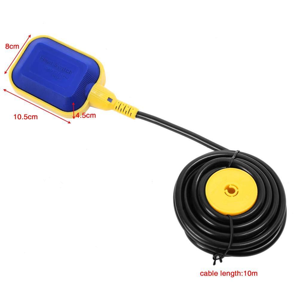 A Interruptor de flotador del sensor de nivel de agua de cable de 10m,Sensor nivel agua l/íquida de Ajuste autom/ático de Alto sellado para ajuste el nivel del l/íquido 15 8