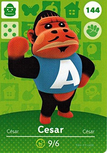 Nintendo Animal Crossing Happy Home Designer Amiibo Card Cesar 144/200 USA Version