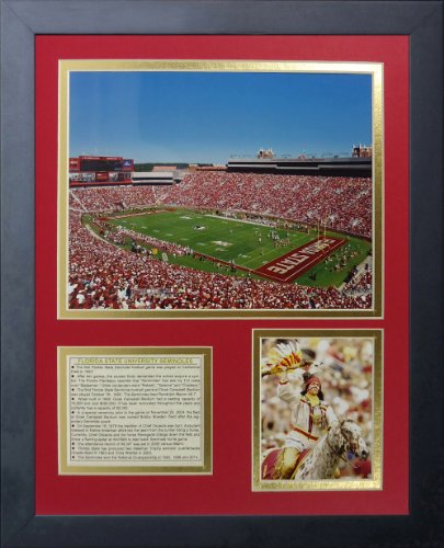 Legends Never Die Florida State Seminoles Doak Campbell Stadium Framed Photo Collage, 11 by (Florida State Seminoles Photograph)