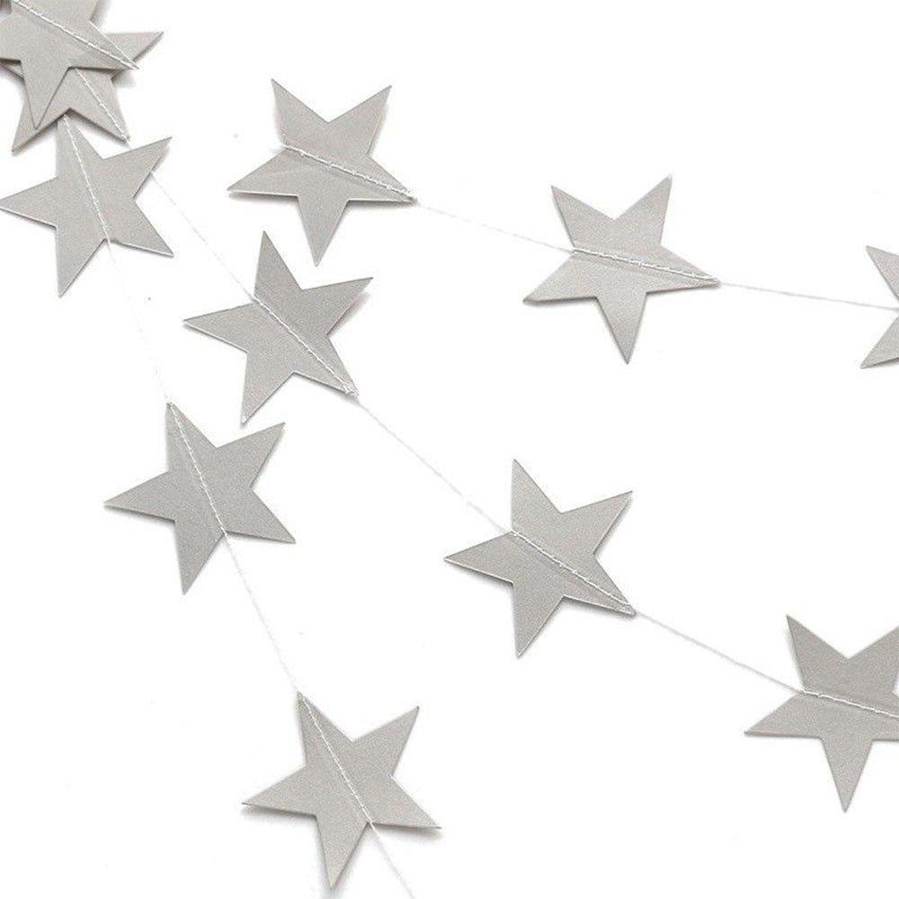 Tenrany Home Scintillante Stelle Ghirlanda, 2 Confezioni Stella di Carta Decorazione Banner Appeso per Matrimonio Festa di Compleanno Decorazione Forniture (Oro)