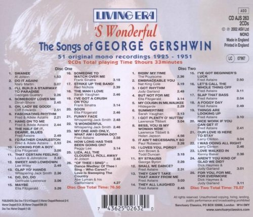 S Wonderful the Songs of George Gershwin by Asv Living Era