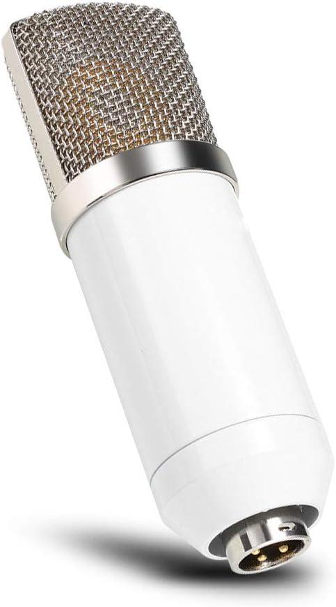 PC Kit de micr/ófono de condensador profesional para estudio de emisi/ón con soporte de micr/ófono plegable ajustable soporte de choque y filtro pop para ordenador port/átil tel/éfono inteligente