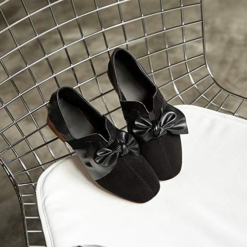 De Gruesos Guisantes Zhijinli Con Zapatos 36eu Al Libre Trabajo Sandalias Individuales Zapatillas Aire 38eu Mujer Lazo Cuadrado wwqPYgx