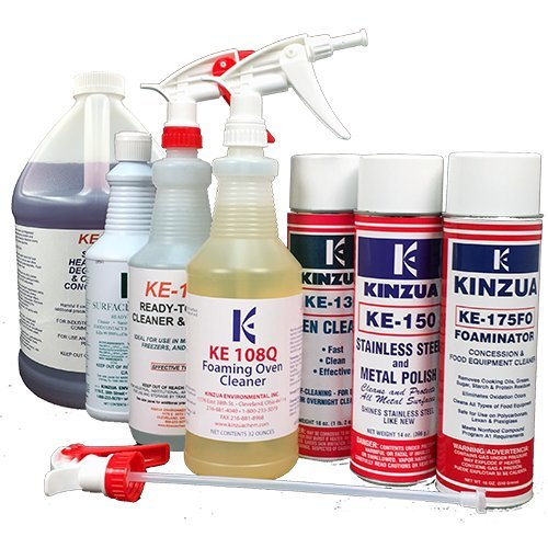 Premium Kitchen Cleaning Pack: Kitchen Floor Degreaser, Oven & Grill Cleaner, Stainless Steel Cleaner, Fridge & Freezer Cleaner (Case of 7 Products)