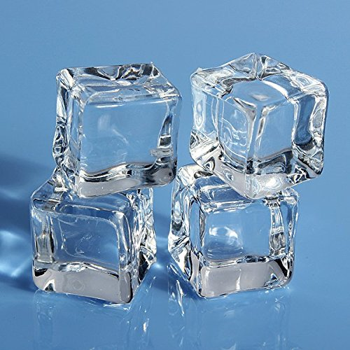 10pcs Square Fake Scatters Artificial Acrylic Ice Cubes Crystal