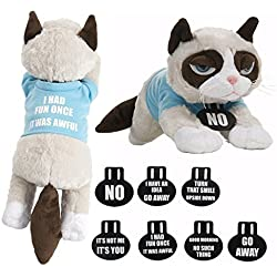Ganz Grumpy Cat with T-Shirt and Collars