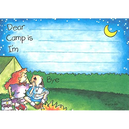 Girls Giggle Camp Camp Post cards, 10 Pack Sales