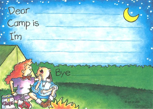 Girls Giggle Camp Camp Post Cards, 10 Pack]()