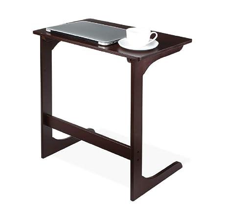Amazon.com: MarketDream Mesa auxiliar de bambú para sofá ...