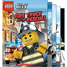 Lego City Readers Collection: Fire Truck to the Rescue; Calling All Cars; All Aboard; Ready For Takeoff; All Hands on Deck (Lego City Readers, 5 Book Set)