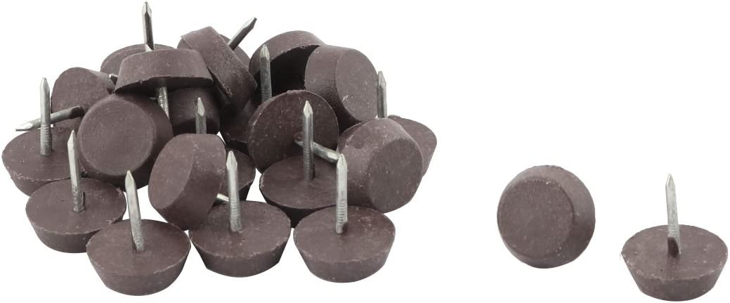 Sourcingmap/® Tisch Sofa Fu/ß Boden Rutsch Schieber Pad Nagel Schutz 16mm Durchmesser 30 St/ück de
