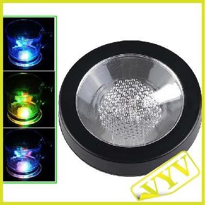 Flashing Panda LED Light-Up Flashing Multi-Color Infinity Tunnel LED 3.75 in. Drink Coaster or Display Base