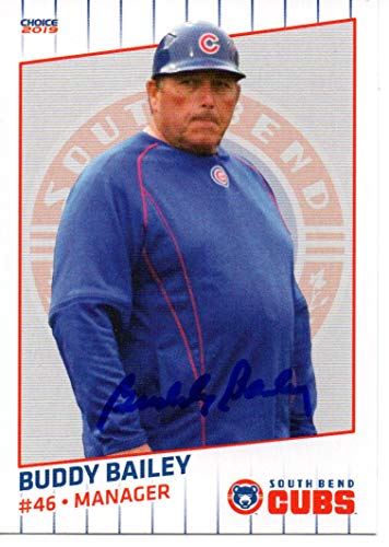 Buddy Bailey 2019 South Bend Cubs Autographed Signed Card