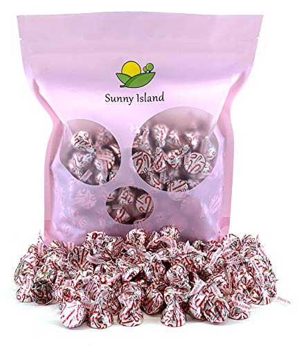(Sunny Island Bulk - Hershey's Candy Cane Kisses, Peppermint Red Stripes Creme Flavor, 2 Pounds Bag)