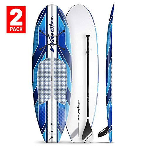 """Wavestorm 9' 6"""" Expedition SUP Stand Up Paddle Board Bundle 2-Pack"""
