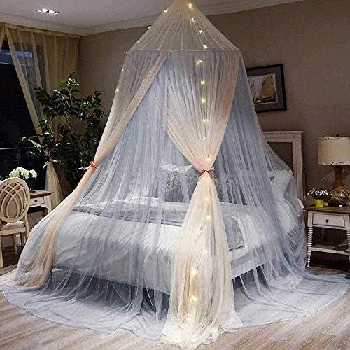 ベビー蚊帳ネットベッドキャノピー蚊よけ屋内屋外蚊帳ラウンドドームカーテンベッドキャノピーレーステント寝具用0.9メートル-2メートルベッドユニバーサルサイズ