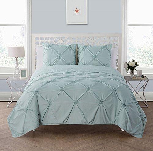 VCNY Home Floral Burst 3 Piece Quilt Set, King, Aqua - Flower Burst Comforter