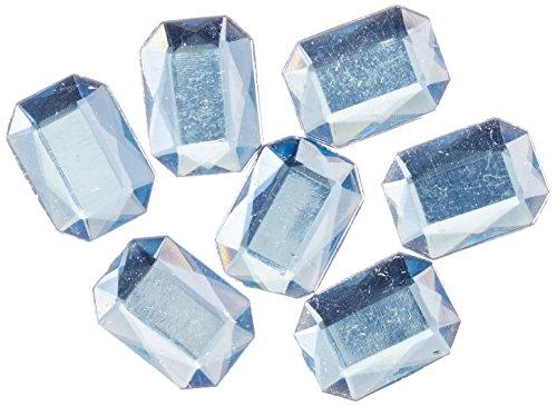 長方形の八角形Craftsコンセント1000-pieceアクリルアルミ箔フラットバックラインストーン、13by 18mm、ライトベビーブルーの商品画像