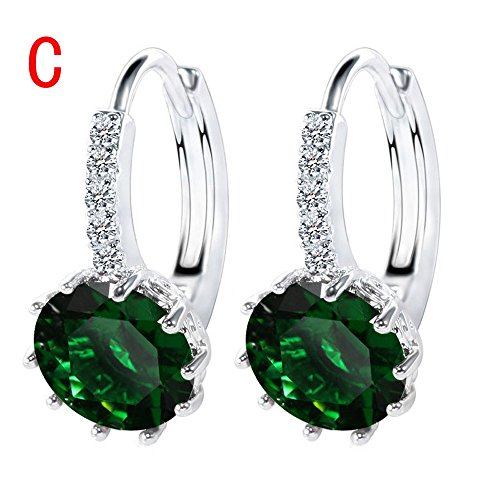 WensLTD Clearance! 1 Pairs Women Girls Cute Lady Crystal Rhinestone Earrings Elegant Jewelry (C-1)