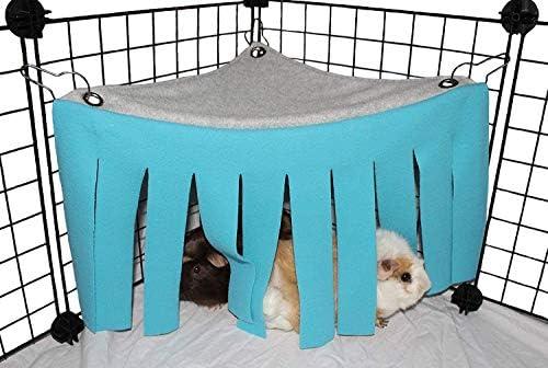 YUIP Huisdier tent cavia verbergen hangmat hoekdoek kwasten gordijn schuilplaats voor kleine dier huisdier hamster tent bos schuilplaats hangmat opknoping bed hoeknest voor cavia chinchilla fret