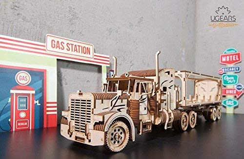 【気質アップ】 UGEARS B07JNSQRVP VM-03 重トラック + トレーラー 機械式 ロット 2 機械式 トレーラー 木製 3D パズル B07JNSQRVP, ブランディア:f6752302 --- a0267596.xsph.ru