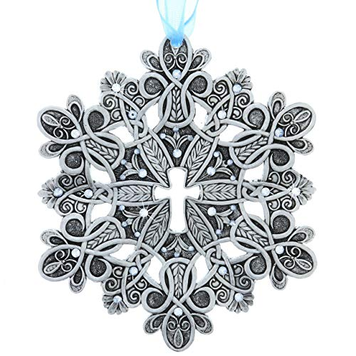 Wendell August 2018 Snow Crystal Hope Cross Christmas...