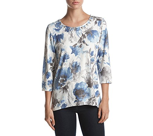 Alfred Dunner Petite Blouse (Alfred Dunner Petites' Watercolor Floral Top Petite Large)