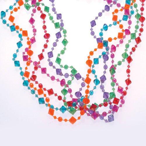 - U.S. Toy JA647 Pearlized Diamond Bead Necklaces