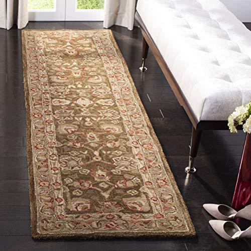 Safavieh Anatolia Collection AN512F Handmade Traditional Oriental Brown and Green Premium Wool Runner (2'3