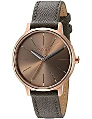 Nixon Women's A1082214-00 Kensington Leather Analog Display Japanese Quartz Grey Watch