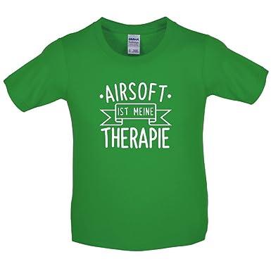 Airsoft ist meine Therapie - Kinder T-Shirt - Irisch Grün - L (9