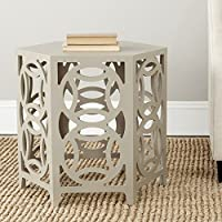 Safavieh American Homes Collection Natanya Pearl Taupe Side Table