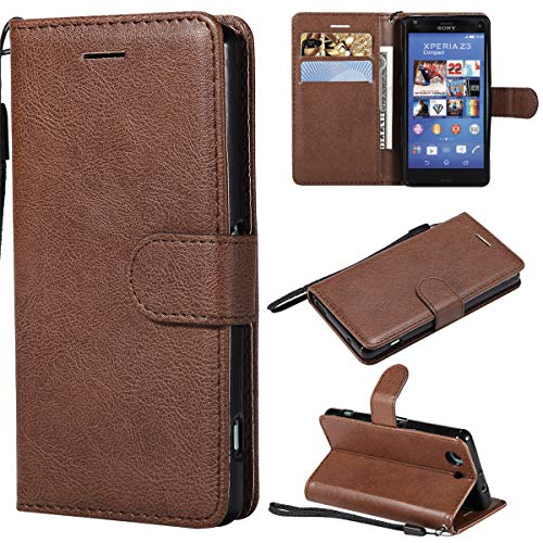 Sony Xperia Z3 Compact Case, Gift_Source [Card Slots/Cash Pocket] Wallet PU Leather Flip Folio Protective Case Folding Stand Magnetic Closure Cover for Sony Xperia Z3 Compact/Z3 Mini 4.6