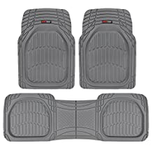 Motor Trend MT-923-GR FlexTough Contour Liners-Heavy Duty Deep Dish Rubber Floor Mats in Gray