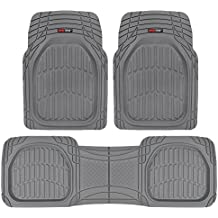 Motor Trend FlexTough Contour Liners - Deep Dish Heavy Duty Rubber Floor Mats for Car SUV Truck & Van - All Weather Protection (Gray)