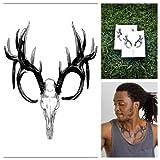 Tattify Animal Skull Temporary Tattoo - Proof of Life (Set of 2)
