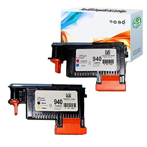 940 Printhead Officejet - HGZ 2 Pack HP940XL 940 Printhead for HP Officejet Pro 8000 8500 Hp 940 Print Head C4900A C4901A for HP Officejet Pro 8000 8500 8500A 8500A Plus 8500A Printer