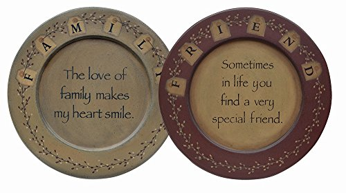 CWI Gifts 2-Piece Friends and Family Plate Set, 9.5-Inch