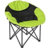 Best Choice Products Folding Lightweight Moon Camping Chair Outdoor Sport Green