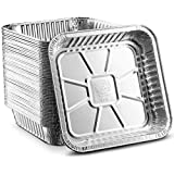 """[100 Pack - 8""""x8""""] Propack Disposable Aluminum Foil Meal Prep Cookware Square Pans, Oven, Toaster, Grill, Cooking…"""