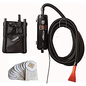 Bonus-Includes 10 Extra Bags - Metro Vac Vac N Blo Pro Commercial Series - Pro83BA-CS car detailing dryer and vacuum. Includes 30 foot hose