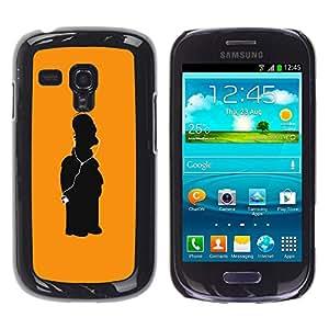 iKiki Tech / Estuche rígido - Character Yellow Art Figure - Samsung Galaxy S3 MINI NOT REGULAR! I8190 I8190N