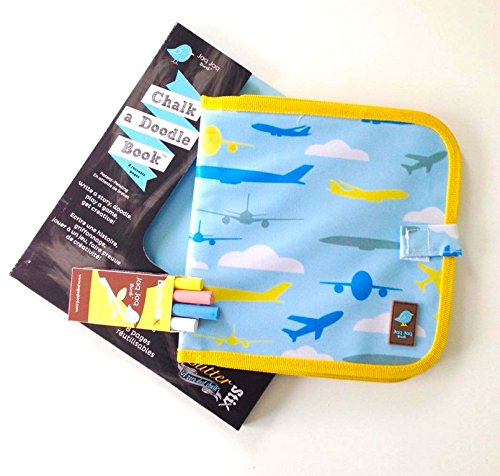 Coloring & Drawing Book with Chalk for Kids, Boys, and Girls: Reusable, Easy to Clean, Aeroplane