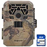 """FULLLIGHT TECH No Glow Trail & Game Camera with 2.0"""" Color LCD Screen 12MP 1080P IP66 Waterproof Night Vision Motion Detection Bestguarder Digital Wildlife Camera (BG-880V)"""