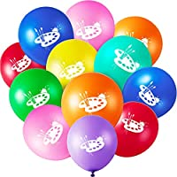 48 Pieces Art Party Balloons Printed Party Latex Balloons Assorted Colors Balloons for Art Classroom Paint Class Painting Paintbrush Birthday Party Decoration, 12 Inches